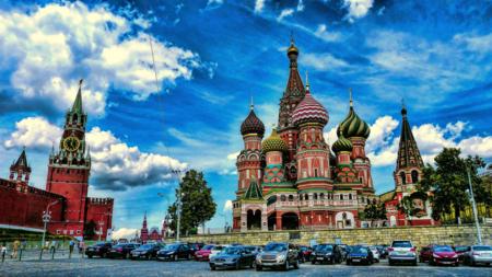 Bildet viser Vasilijkatedralen