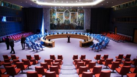 Bildet viser salen i FNs sikkerhetsråd