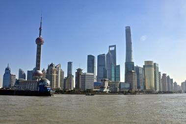 Bildet viser Shanghai i Kina.