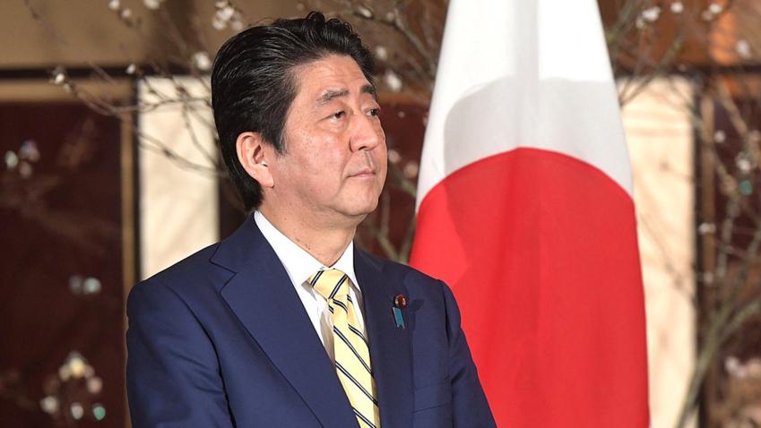 Bildet viser Japans statsminister Shinzo Abe
