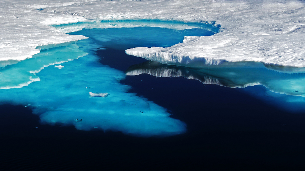 The image is taken on Eastern Greenland