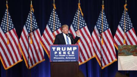 Bildet viser Donald Trump