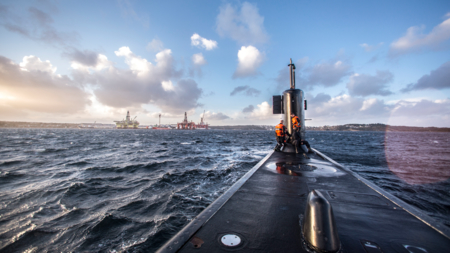 Bildet viser en ubåt.