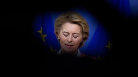 Bildet viser EU-kommisjonens president Ursula von der Leyen