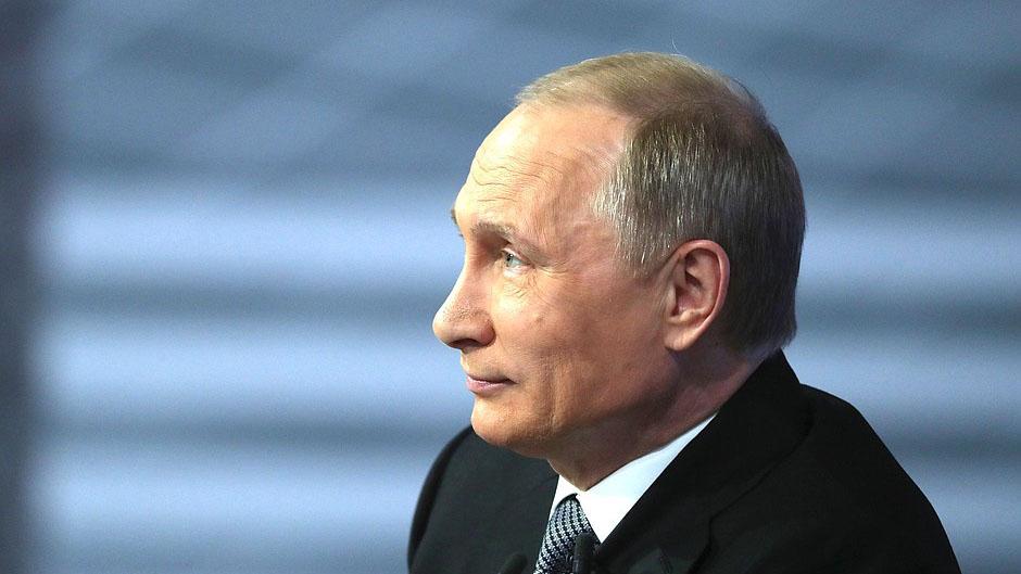 Bildet viser Russlands president Vladimir Putin