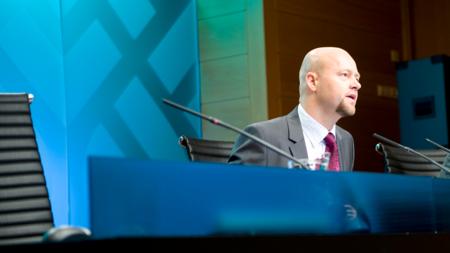 Bildet viser Yngve Slyngstad, ansvarlig for oljefondet