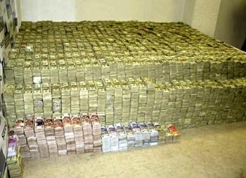 Beslaglagte penger